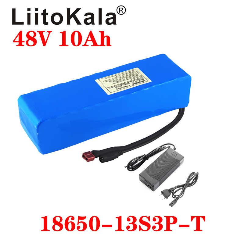 Liitokala E-Bike Batterij 48 V 10ah Li Ion Batterij Bike Conversie Kit Bafang 1000 W En Oplader