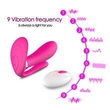 Godemiché papillon portable, jouets sexuels pour femmes, stimulateur de Clitoris G Spot, télécommande sans fil culotte