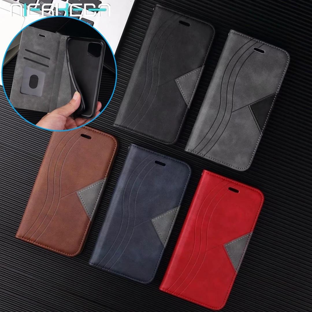 Magnetyczne skórzane etui z klapką dla Huawei honor 9c 9s 9 C S Pmart 2020 portfel pokrywa dla Nova7SE P40 Pro lite E 5G Y5P Y6P Y7P karty