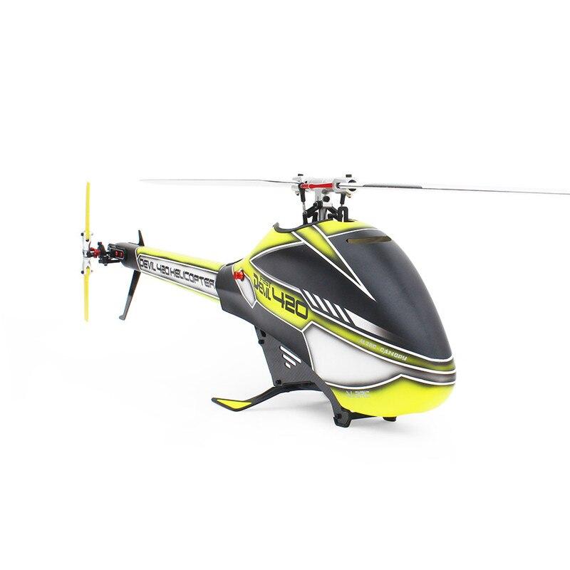 ALZRC Devil 420 FBL VELOCE 6CH 3D Rosso/Giallo/Verde Volare RC Elicottero Kit di Alta Qualità - 5