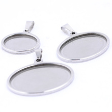 onwear 10pcs oval blank cameo cabochon settings stainless steel pendant base trays diy jewelry making findings 10pcs fit 25mm stainless steel cabochon base diy blank cameo pendant bezel settings diy jewelry necklace trays