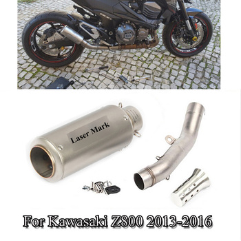 For 2013-2016 Kawasaki Z800 Motorcycle Exhaust Muffler Silencer Pipe Middle Link Connect Pipe Tube Z800 Escape Modified Slip On