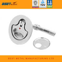 Marine Grade Stainless Steel 316 Cam Latch Flush Pull Hatch Deck Latch Lift Handle with Back Plate Boat Hardware Accessories