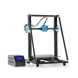 Image 4 - CREALITY CR 10 de actualización 3D para impresora V2, tamaño de impresora 300x300x400mm, placa base silenciosa, hoja de impresión con fuente de alimentación Mean well