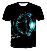 Camiseta con estampado de reloj personalizado en 3D para hombre, camiseta de manga corta de estilo urbano a la moda, s-6xl