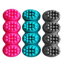 4 siatki trwałe formy silikonowe do mydła forma mydła do terapia masażem kostka mydła Food Grade standardowe formy silikonowe do mydła tanie tanio CN (pochodzenie) Silicone Massager soap Other