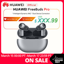 In Lager Globale Version HUAWEI Freebuds Pro Smartearphone Qi Drahtlose Lade ANC Funktion Für Taube 40 Pro P30 Pro