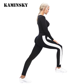 Legging Women Skinny Pants Sexy Ladies Fashion Black White Leggings for Women Workout Female Long Trousers Girl Leggings image