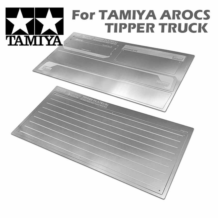 1/14 Tractor de remolque de metal contenedores placa para tamiya 1/14th escala rc beenz camión 1851, 56335, 3363, 56348/56352 tractor remolque