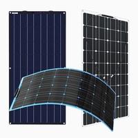 Xinpuguang Flexible Solar Panel 1pcs 2pcs 12 Volt 100 Watt 200W Power System for 12V Battery Charging White black blue optional