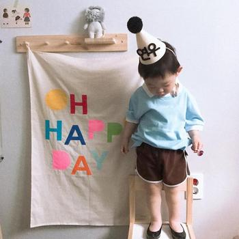 Baby birthday party decoration happy day background cloth photography children's room wall decoration photo props accessories 60x84 inches flowers theme photography backdrops party background for wedding baby birthday decoration photo wall studio props