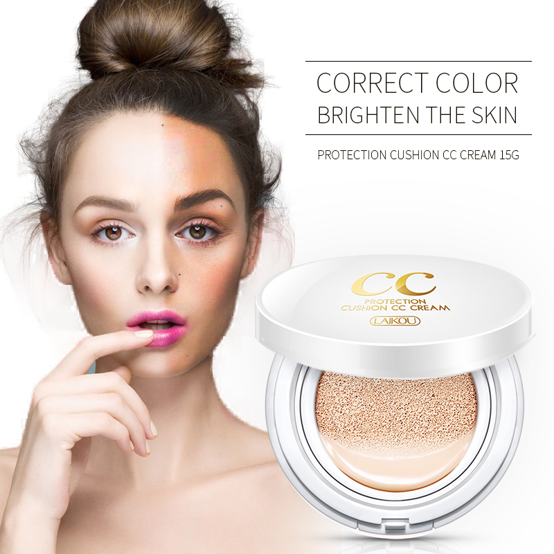 Sunscreen Air Cushion BB CC Cream Hyaluronic Acid Concealer Moisturizing Foundation Makeup Bare Whitening skin Korean Cosmetics image