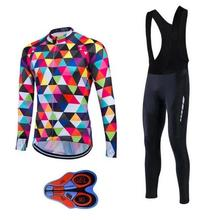 NEW Cycling Jersey MTB Cycling Clothing Racing Long sleeves autumn 9D  Ropa Ciclismo Bike Cycle Maillot Bicycle Wear 17 colors цена