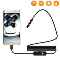 1/2m 5.5mm 7mm Endoscope Camera flexible USB Android Endoscope Waterproof 6 LED Borescope Snake Inspection Camera For Android PC