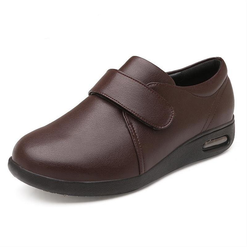 2021 New Arrival Hot Sale Classical Man's Split Leather Diabetic Solid Air Cushion Comfortable Wind Adjustable Shoes for Women