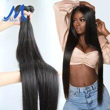 Missblue cabelo peruano tecer pacotes em linha reta 100% feixes de cabelo humano 28 30 32 34 36 38 40 Polegada extensões de cabelo remy completo