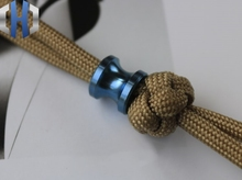 Paracord Beads Titanium Alloy Umbrella Rope Pendant EDC Tool Hanging Decoration Keychain Knife