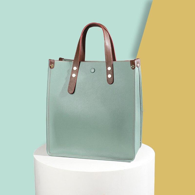 Luxury Handbags Women Bags Fashion High-end Briefcase Shoulder Bag Genuine Leather Laptop Bag Large Capacity Casual Tote Handbag