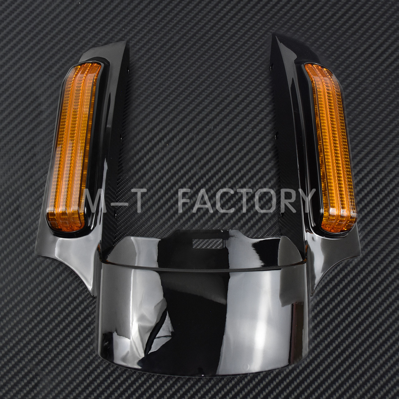 Image 3 - Motorcycle LED Light Rear Fender Extension Fascia Set For Harley Touring Electra Road Glide 2014 Up FLTRXS Ultra Limited FLHXCovers & Ornamental Mouldings   -