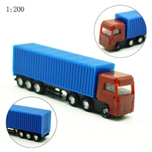 Teraysun 1/200 scale truck model building kits toy truck/van 10pcs