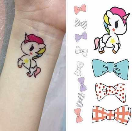Tatuagem temporária à prova dwaterproof água adesivo elefante coelho balão flash tatoo falso braço tatto pulso pé mão para menina