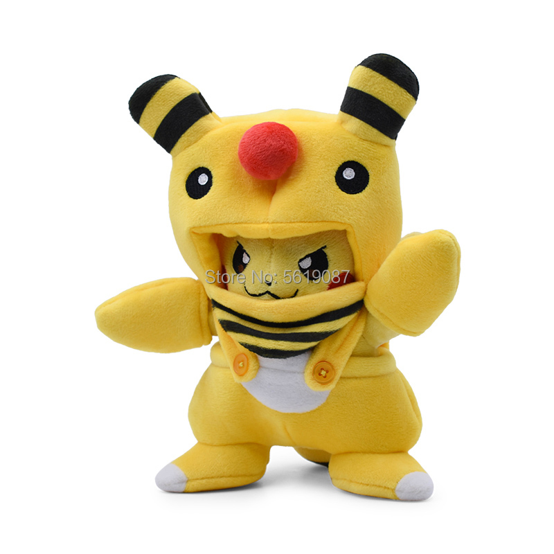 Decanyue 20-24cm Pikachu Cosplay Tyranitar Hydreigon Charizard Snorlax Ampharos Garchomp Peluche Morbidi farciti Pluche 16cm F
