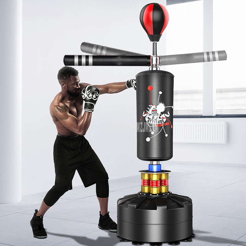 Floor Standing Punching Bag Boxing Column Speed Ball 360 Degree Swing Bar Punching Sport Sand Bag Pressure Relief Boxing Fitness