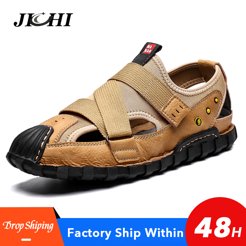 2020 New Men Shoes Comfortable Men Sandals Beach Shoes Lightweight Mens Casual Shoes Big Size 39-48 Non-slip Platform Zapatillas