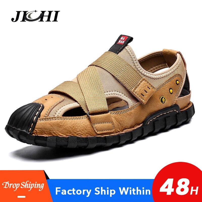 2020 New Men Shoes Comfortable Men Sandals Beach Shoes Lightweight Mens Casual Shoes Big Size 39-48 Non-slip Platform Zapatillas