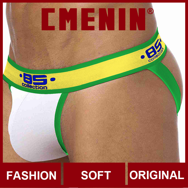 2020 New Solid Cotton Breathable CMENIN Gay Men Sexy Underwear Thong Men Jockstrap Gay Thongs Mens Thongs And G Strings