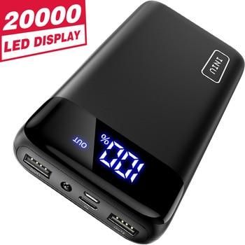 Banco de energía INIU, 20000mAh, cargador portátil LED, batería externa, paquete de batería, Cargador USB de teléfono móvil para Samsung Xiaomi Mi9 8