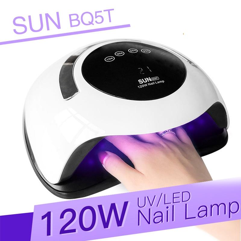 120W UV Lamp Led Nail Dryer Professional Gel Nail Lamp For Nails All Gel Polish Sensor Sun Led Light Nail Art Manicure Tool