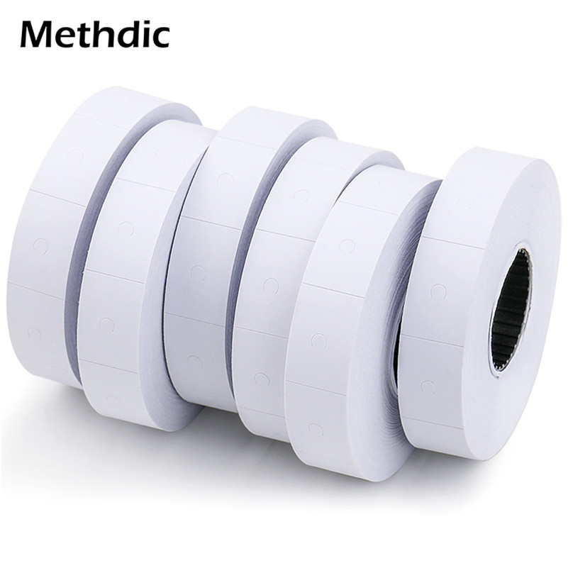 Methdic 10 Rolls/set White Price Tag Label Suitable For The Supermarket