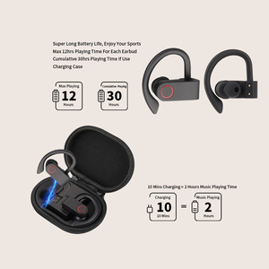 Image 3 - Wireless Sports Headphones TWS Bluetooth 5.0 Earphones Ear Hook Running Noise Cancelling Stereo Earbuds With MIC IPX4 Waterproof
