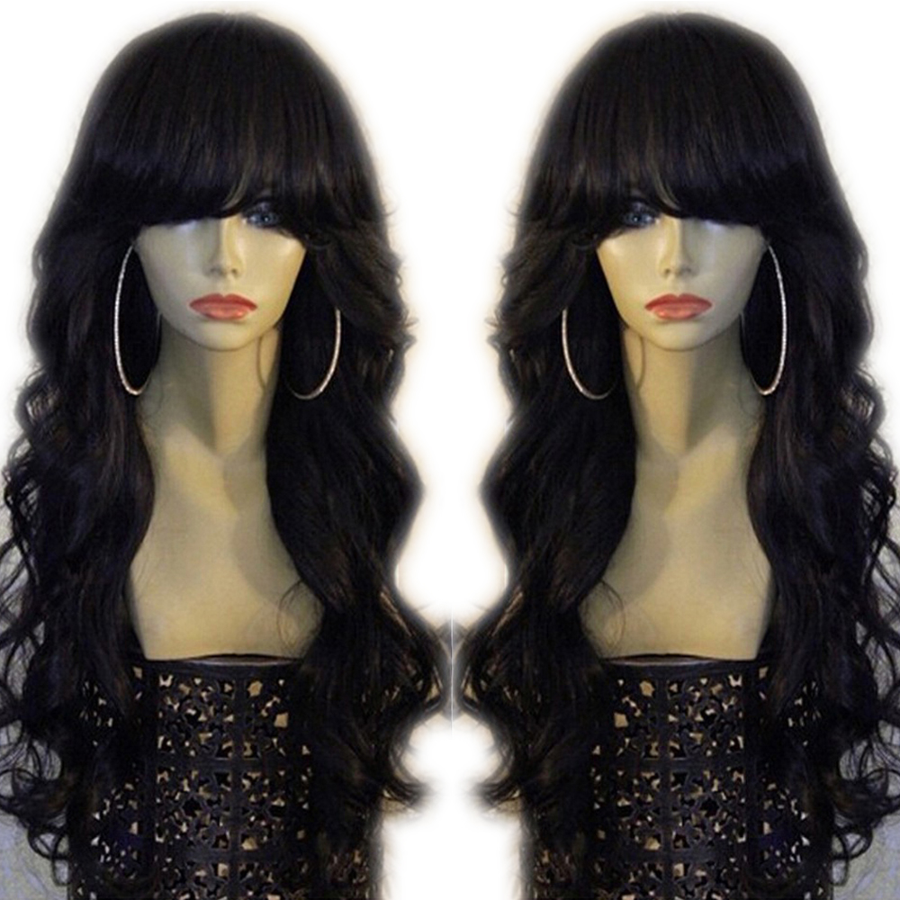 Eversilky 360 Lace Front  Human Hair Wigs With Bangs Baby Hair Pre Plucked Fringe Wig Peruvian Remy Body Wave Natural Hairline
