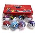 8 шт./компл. набор покебола Pokemon Pop-up Elf Ball, игрушки TAKARA TOMY, оригинальный Покемон, монстр Elf Ball Pikachu подарки для мальчиков девочек для детей