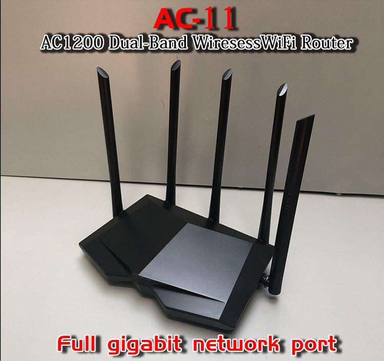 Tend AC11 Gigabit Dual-Band AC1200 Wireless Wifi Router WIFI Repeater 5*6dBi High Gain Antennas AC10 Wider Coverage Easy Setup