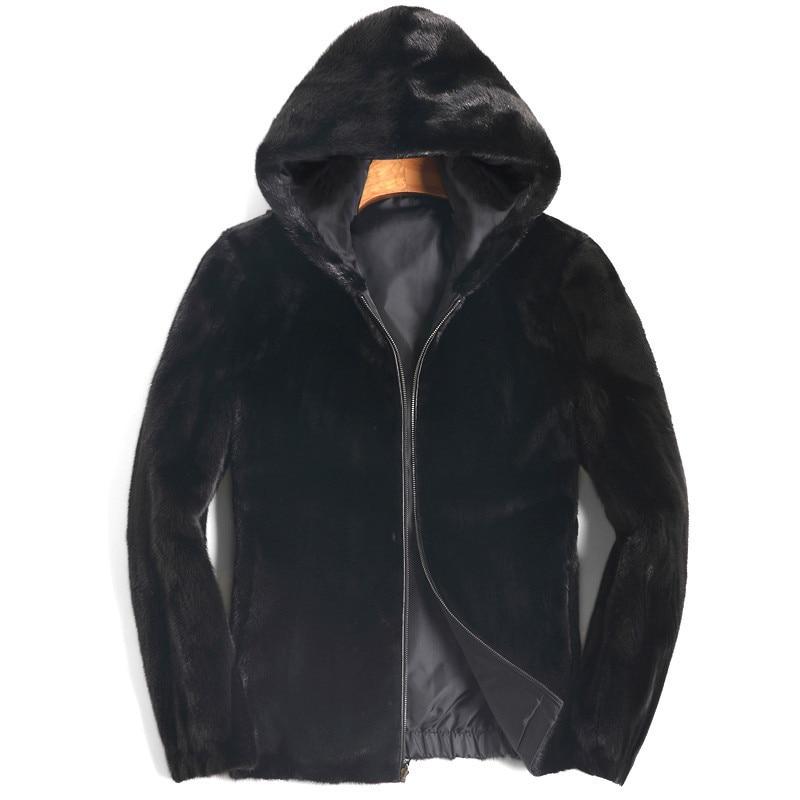 Real Fur Coat Men Real Mink Fur Coat Men Korean Two Side Wear Short Winter Jacket For Mens Clothing 2020 8109 Casaco YY909
