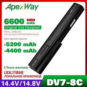 Аккумулятор для ноутбука HP Pavilion dv7, 14,8 в, батарея для ноутбука HP Pavilion dv7, dv7t, dv7z, dv8, dv8t, HDX18, 4400, ма/ч, батарея для ноутбука, с