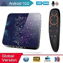 Caja de TV Android 2020 Android 10 4GB 32GB 64GB 4K H.265 reproductor de medios 3D Video Smart TV Box2.4G 5GHz Wifi Bluetooth Set top Box