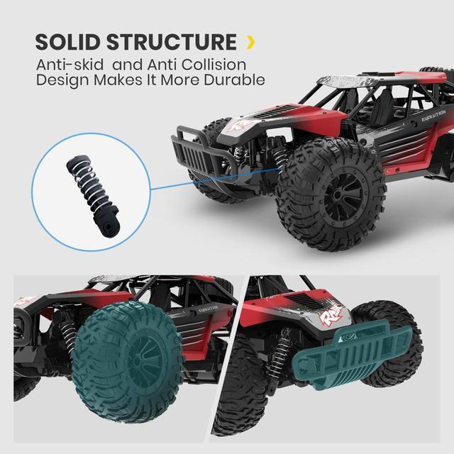 DEERC DE37 1:16 RC Car All Terrains Off Road Buggy Truck 30 Mins Play Time 20 KM/H High Speed RC Dift Car Toys For Children 5