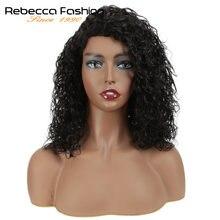 Парик Ребекка кудрявые человеческие волосы парики на сетке для