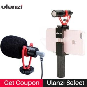 Image 1 - Konfiguracja Vlog kompaktowy mikrofon aparatu W uchwycie telefonu uchwyt wideo Rig Smartphone Mic dla iPhone 11 Huawei Canon Nikon DSLR aparaty