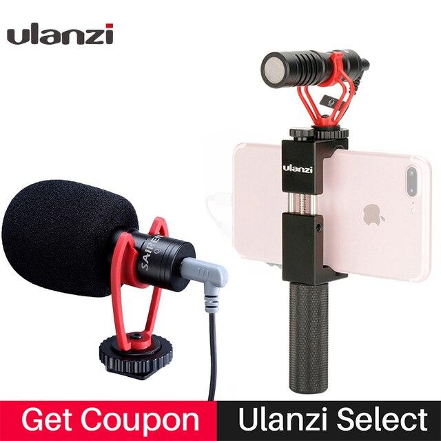 Konfiguracja Vlog kompaktowy mikrofon aparatu W uchwycie telefonu uchwyt wideo Rig Smartphone Mic dla iPhone 11 Huawei Canon Nikon DSLR aparaty