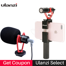 Vlog Setup Kompakte Kamera Mikrofon W Telefon Griff Grip Video Rig Smartphone Mic für iPhone 11 Huawei Canon Nikon DSLR kameras