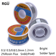50/100g 0.3/0.5/0.8/1/1.2mm FLUX 2.0% 45FT Tin Lead Tin Wire Melt Rosin Core Solder Soldering Wire Roll No-clean Tin BGA Welding
