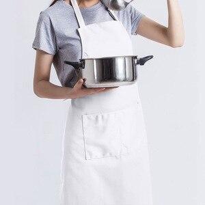 Image 4 - 6 Stuks Wit Schort Set Unisex Verstelbare Chef Ober Hoed Keuken Baker Cook Schort Met Pocket Voor Thuis Restaurant Accessoires