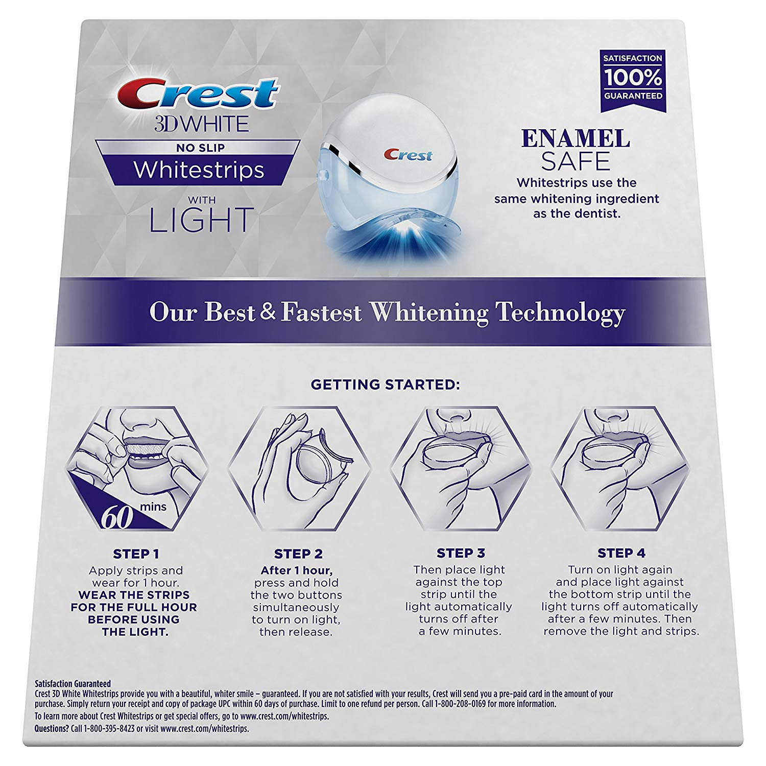 Original Crest 3d White Whitestrips With Blue Light Oral Care