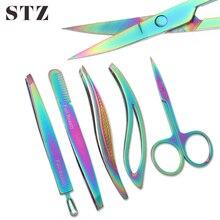 1 adet paslanmaz çelik kaş cımbız burun saç kesme makası tırnak kenar kesici makası ölü cilt sökücü makyaj araçları FBM1-5-1