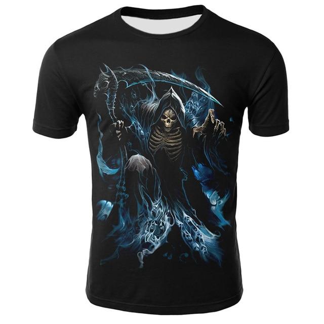 Summer New Funny Skull 3D T Shirt Summer Hipster Short Sleeve Tee Tops Men/Women Print T-Shirts Casual Homme Short Sleeve Tops 6
